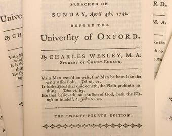 The Rev. Charles Wesley pamphlet/sermon