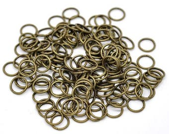 50 pc Antique Bronze Open Jumprings 10mm