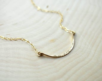 14K Gold-Fill Curved Layering Necklace
