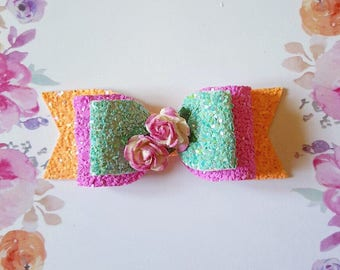 Summer Brights Floral Bow