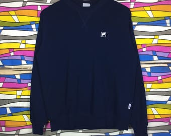 Rare!! Vintage FILA Sweatshirt Small Logo Medium Size