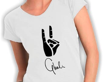 Women's V neck t shirt ghali