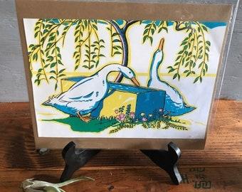 Vintage Print - Ducks