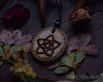 Necklace ~ Venus Flower ~ Venus Flower charm made of wood