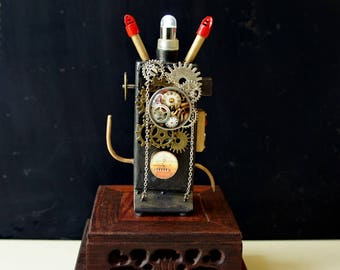 Miniature Steampunk Mad Scientist Electronic Apparatus
