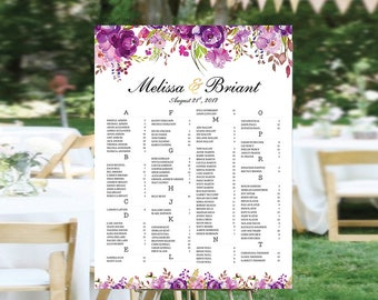 Wedding decorations, Wedding seating chart alphabetical, Wedding Seating Chart, Wedding Seating Chart Poster, Wedding Seating Chart Sign