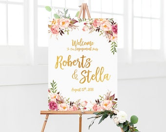 Engagement welcome sign, Engagement sign, welcome engagement party sign, engagement party sign, engagement decorations, engagement invites