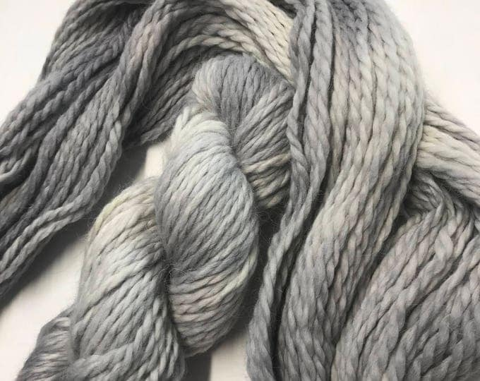 100g Baby Alpaca  Chunky / Bulky Yarn, hand dyed in Scotland, grey and white, so soft and squishy!