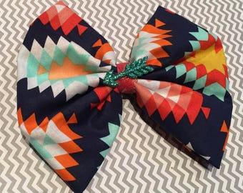 Aztec Print Fabric Bow