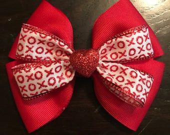 Xoxo Valentines Day Bow