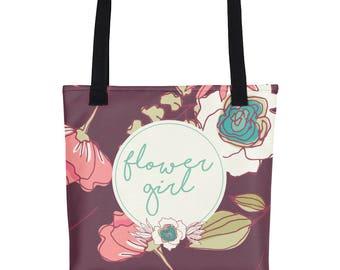 Flower Girl Tote Bag | Flower Girl Tote | Tote For Flower Girl | Flowergirl Tote Bag | Bridal Party Tote | Wedding Tote Bag Bridal Gift Tote