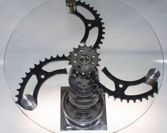 Motorcycle Sprocket End Table