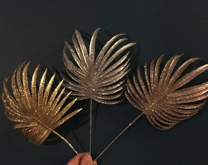 Glitter palm tree leaves