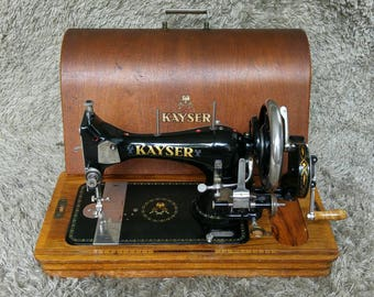 Kayser L | Antique Sewing Machine | Kaiserslautern Germany 1913 | Nähmaschine | Macchina da Cucire | Machine à Coudre | FREE Shipping*
