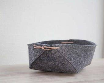 Felt storage basket/wool felt basket