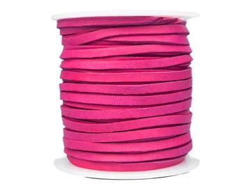 Fuchsia Deerskin Lacing - (1) 50 foot spool, 1/8th inch lace (297-18x50FU)