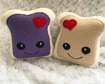 Peanut Butter and Jelly Stuffy | PB&J softy | kawaii sammich| PB and J plushie