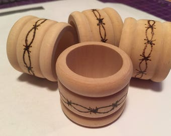 Barbed Wire Napkin Rings