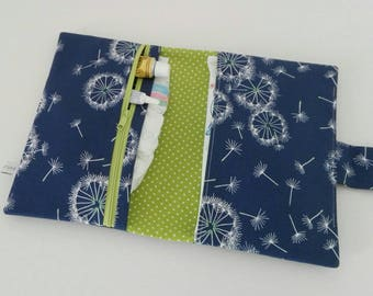 Diaper bag / diaper bag / diaper clutch / diaper wipes clutch - nappy bag - diaper bag / Smalldiaperbag / dandelion flowers / dandelion