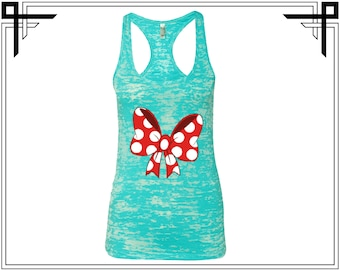 Cute Bow Tank Cute Red Bow Tank Top Red Bow Tank Cute Bow Tank Top Bow Tank Women Tank Ladies Tank Burnout Racerback Tank Gift For Her