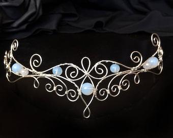 Elven crown, elven circlet, elven tiara, bridal crown, bridal headpiece, mermaid crown, wedding crown headpiece, fantasy crown, Fairy Crown
