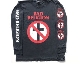 1994 Bad Religion 'Stranger Than Fiction' long sleeve vintage T-shirt - XL - black flag, minor threat, fugazi, circle jerks, bad brains