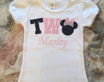 Minnie Mouse kids shirt, Age shirt, Personalized kids shirt, Personalized Minnie Mouse shirt, Minnie Mouse Birthday Shirt