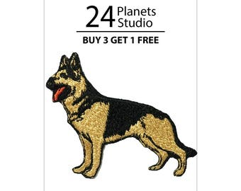 German Shepherd Iron on Patch by 24PlanetsStudio Cute Applique Cute Patch dog patch dogs