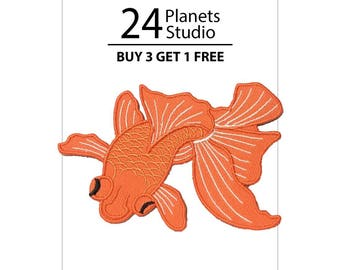 Gold Fish Iron on Patch by 24PlanetsStudio