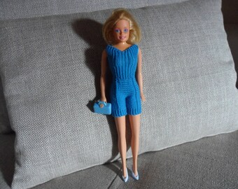 hot Pant blue wool for barbie