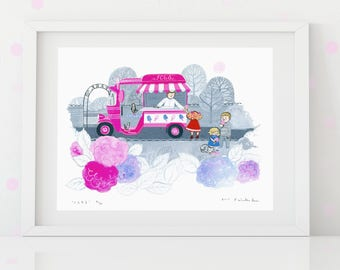 Limited Edition A4 Print 'Ices'
