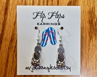 Flip Flop Earrings, Beach Earrings, Flip Flops,