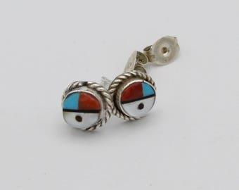 Zuni Sun Face Earrings