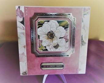 Sympathy Card, Bereavement Card, Thinking of You Card, Sorry for your Loss Card, Decoupage Card,