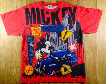 20% Off Vintage RARE Mickey Mouse Full Printed Shirt