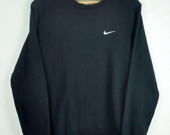 Vintage Nike Small logo 90s Sweatshirt    NIKE    Black