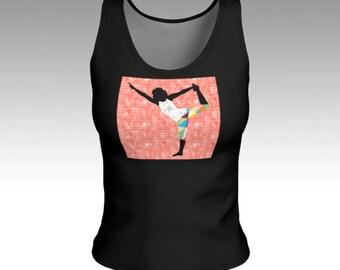 Tank Tops, Yoga Girl Tank Top, Black Tank Top, Fitted Tank Top, Top, Women's Tank Top, Tops, Women's Tops, Tank Top, Yoga Tops, Gifts