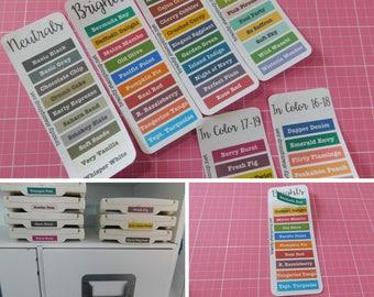 1 set Stampin' Up! Ink Pad Labels