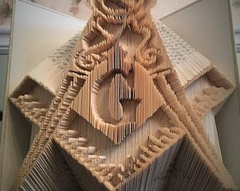 Masonic Square and Compass Book Folding