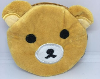 So Kawaii and cute from Japan Rilakkuma Bear Coin Purse Mini Wallet Money Bag Change Pouch Key Holder Pokemon Charger Cord Holder