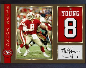 Steve Young San Francisco 49ers signed autograph photo print picture Framed