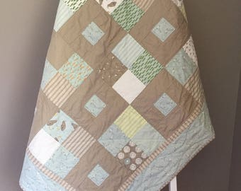 Homemade Quilt; Baby Boy Quilt; Handmade Quilt; Baby Quilt; Crib Quilt; Baby Blanket; Toddler Quilt; Darling Little Dickens