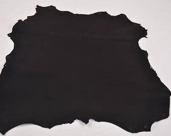 Black velvet lamb leather skin