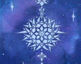 Watercolour mandala galaxy