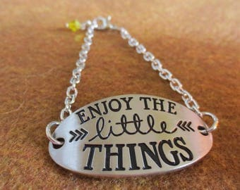 Bracelet with a great saying