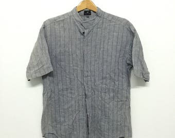 Sale!! Sale!! Vintage Issey Miyake Shirt/Button down with Double Pocket Mens Rare