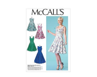 McCall's 7117 - Fit and Flare Dress Pattern