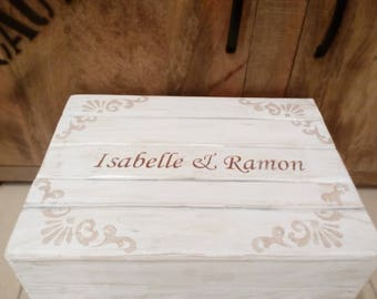 Wedding chest, wedding, bride, groom, wedding gifts, wedding gift, chalk color, vintagestyle, wooden box, wood chest