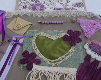 Ladies Alzheimer Floral Alzheimer Fidget Apron