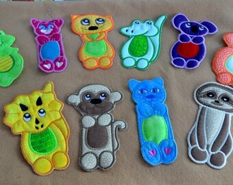 Children's animal Bookmarks/study buddies, imaginary play toys, stocking stuffer, party favor